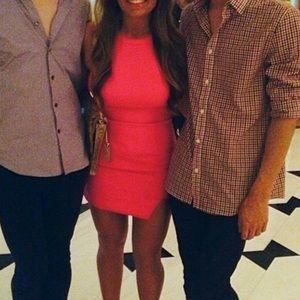 Dresses & Skirts - Hot pink halter top dress
